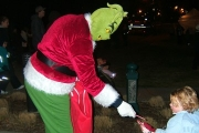 The post-epiphany Grinch was one of many favourite Christmas characters on hand offering holiday cheer