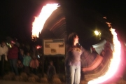 The Winterfest entertainment was on fire Friday night ....literally.