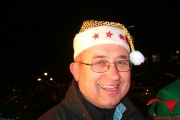 His Worship, mayor Lawrence Chernoff, brings the holiday happy with his sparkly hat