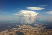 Aerial view of fire at Copping/Forcett, Tasmania on January 4. Image: Chuq.