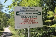 The public is being asked to use extra caution while walking the Great Northern Trail.