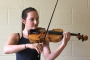 Violinist Fiona Burkholder, New Denver, is one of the hundred participants performing this week in the Kootenay Festival of the Arts. — Submitted photo