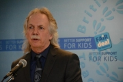 BCTF president Jim Iker . . . call on Premier to get involved