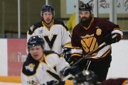 Selkirk College Saints captain Tyler Kerner helped pace his team to a pair of 4-3 victories over the University of Victoria Vikes at the Castlegar & District Recreation Centre this past weekend. The Saints will play their last home game of the BCIHL season this coming Friday night at 7 p.m. against the Eastern Washington University Eagles.