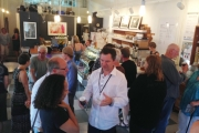 The 2014 Grand Opening of Artwalk was well attended as people flocked from venue to venue in and around downtown Nelson.