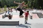 Action at a skatepark