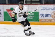 Former Nelson Leaf Connor McLaughlin is back as a member of the Selkirk Saints. — photo courtesy Selkirk College