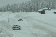 Mountain highways, including the Kootenay Pass between Salmo and Creston, are expecting 20 to 30 cm today.  — Photo courtesy DriveBC