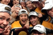 The Clarkson squad took a selfie after the championship win and now want to get on get on The Ellen Show. — Photo courtesy Twitter