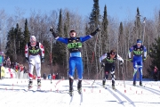 Julien Locke of Nelson lets out a loud cheer after crossing the finish line in second spot at the recent Senior National Championships in Thunder Bay, Ontario. — Submitted photo