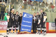The banner goes up during October 4 Selkirk Saints home opener.