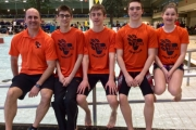 Pictured from left, Coach Mike Konkin, Ian Markus, Jackson Konkin, Sharman Thomas and Aby Elwood. — Submitted photo