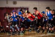 Rossland/Trail RollerGirls got some revenge on the Valley Brutality squad Saturday at Selkirk College. — Lee Orr Photography