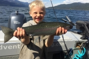 Smiles all around when you land a fish of choice on Kootenay Lake. — Photo courtesy Reel Adventures