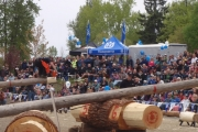 The annual Logger Sports Show is always a crowd favourite during Kaslo May Day Celebrations. — Photo courtesy Kaslo May Days Committee