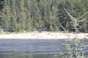 Taghum Beach will soon be a busy spot fro swimmers to cool off. — The Nelson Daily photo