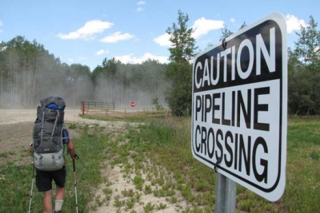 Follow Frank Wolf as he travels the proposed Enbridge pipeline. — Submitted photo