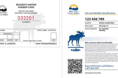 Hunters must carry photo ID and their species licence at all times while hunting.