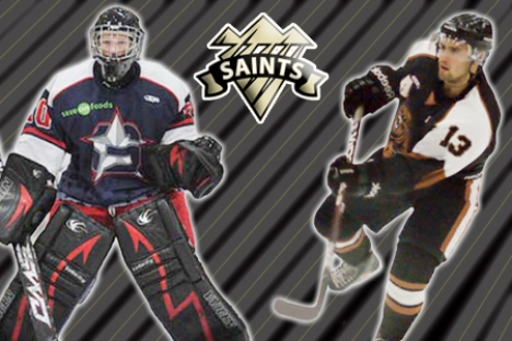 Netminder Stephen Wolff and forward Matthew Luongo are eager to get back on the ice after inking commitment letters with Selkirk Saints.