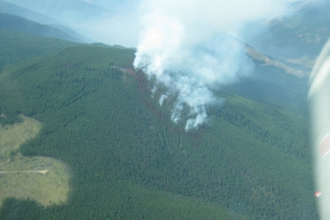 The Brewer Creek fire near Invermere was discovered Monday.  photo courtesy Southeast Fire Centre