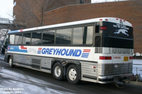A Greyhound Bus caught fire near the summit of the Okanagan Connector Saturday. 