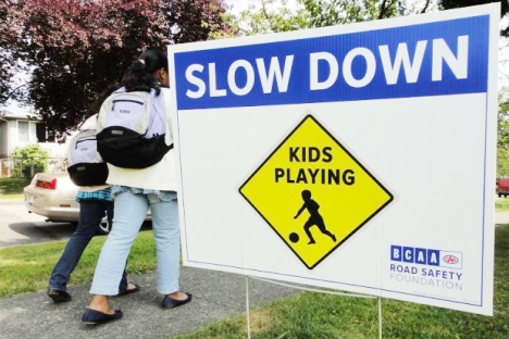 Drivers are urged to slow down in school zones. — photo submitted