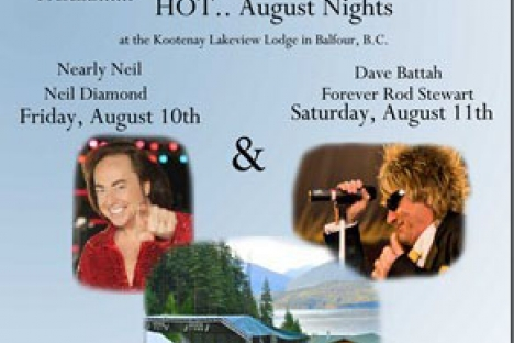 Nelson Grizzlies host Neil Diamond and Rod Stewart (tribute bands)  in Balfour