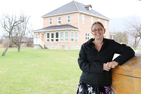 Selkirk College Instructor Takaia Larsen at the Mir Centre for Peace on the Castlegar Campus where Peace 216: The Doukhobors will be offered from April 27 to May 1. — Bob Hall photo