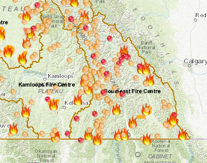 120 Wildfires In Southeast Fire Centre Rdck Continues To Closely